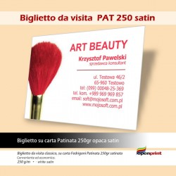 Biglietto da visita BV PAT 250sat