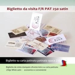 Biglietto da visita fronte/retro BV PAT 250sat